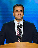 Actor / producer Kal Penn, former Associate Director of the White House Office of Public Engagement makes remarks at the 2012 Democratic National Convention in Charlotte, North Carolina on Tuesday, September 4, 2012.  .Credit: Ron Sachs / CNP.(RESTRICTION: NO New York or New Jersey Newspapers or newspapers within a 75 mile radius of New York City)