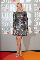 Holly Willoughby at The BRIT Awards 2017 at The O2, Peninsula Square, London on February 22nd 2017<br /> CAP/ROS<br /> &copy; Steve Ross/Capital Pictures /MediaPunch ***NORTH AND SOUTH AMERICAS ONLY***