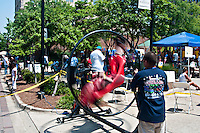 Gyro ride at river fest in downtown Vicksburg Mississippi