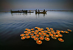 Diyas on the Ganges, Evening Offerings<br />