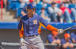 5 March 2013: Houston Astros outfielder Justin Maxwell in action during a Spring Training game against the Washington Nationals at Space Coast Stadium in Viera, Florida. The Nationals defeated the Astros 7-1 in Grapefruit League play. Mandatory Credit: Ed Wolfstein Photo *** RAW (NEF) Image File Available ***
