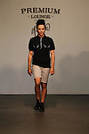 Professional Ice Skater Johnny Weir on Runway : New Premium Lounge Signed by INDASHIO Men's Collection Fashion Show at AUDI FORUM, NY  9/13/11