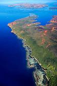 Le Cap Ndoua face à l'Ile Ouen et la baie de Prony, Sud de la Grande-Terre, Nouvelle-Calédonie