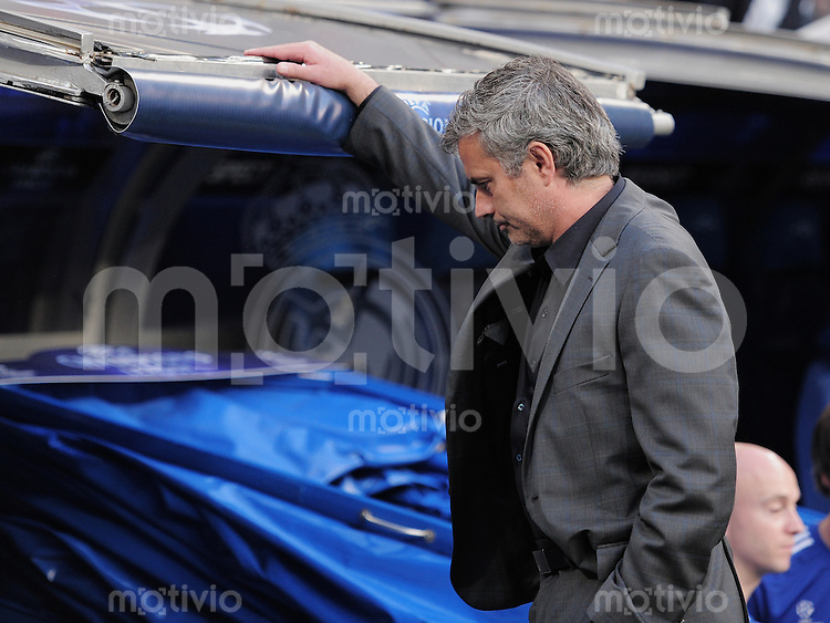 FUSSBALL   CHAMPIONS LEAGUE   SAISON 2010/2011   Halbfinale  27.04.2011 Real Madrid  -  FC Barcelona The speciall one; Trainer Jose Mourinho  (Real Madrid)