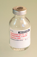 Vial of lidocaine local anesthetic