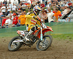 Motocross, MX2 WM 2004, Weltmeisterschaft, Grand Prix of Europe, Gaildorf (Germany) Marc de Reuver (NED), KTM