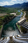 Shasta Dam on the Scaramento river power plant near Redding Northern California USA