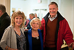 WATERBURY,  CT-011417JS22--Patty Spillane, Barbara Davitt and Paul Spillane, all  of Prospect, at  opening night of &quot;Showstoppers: Broadway at Seven Angels Theatre&quot;. <br /> Jim Shannon Republican-American