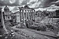 Roman Forum, view from Campidoglio..<br /> Foro Romano-Palatino