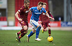 St Johnstone v Motherwell&hellip;20.02.16   SPFL   McDiarmid Park, Perth<br />Liam Craig and Louis Laing<br />Picture by Graeme Hart.<br />Copyright Perthshire Picture Agency<br />Tel: 01738 623350  Mobile: 07990 594431