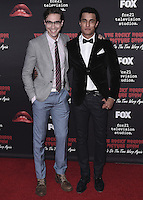 "WEST HOLLYWOOD, CA - OCTOBER 13, 2016:  Ryan McCartan and Staz Nair at the red carpet premiere of Fox's ""The Rock Horror Picture Show: Lets Do the Time Warp Again"" at The Roxy on October 13, 2016 in West Hollywood, California. Credit: mpi991/MediaPunch"
