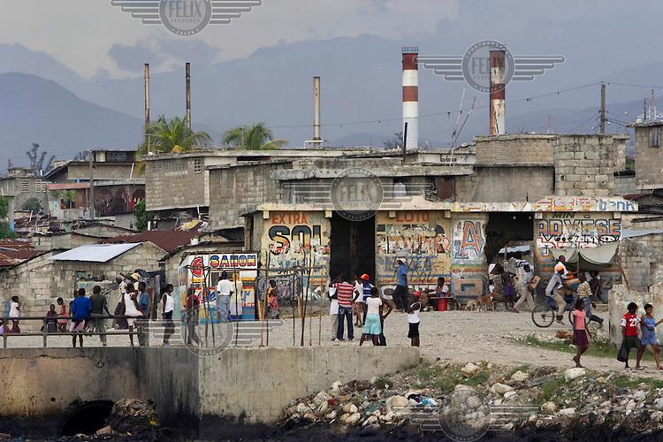 The Cite Soleil slum.