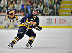 15 February 2008: Merrimack College Warriors' defenseman Pat Bowen, a Sophomore from Marshfield, MA, in action against the University of Vermont Catamounts at Gutterson Fieldhouse in Burlington, Vermont. The Catamounts defeated the Warriors 4-1 in the first game of their 2-game weekend series...Mandatory Photo Credit: Ed Wolfstein Photo