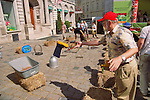 Man play rustic games at Vienna country fair