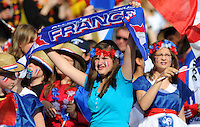 Fans of team France during the FIFA Women's World Cup at the FIFA Stadium in Berlin, Germany on June 26th, 2011.