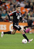 WASHINGTON, DC - OCTOBER 20, 2012:  Chris Pontius (13) of D.C United against the Columbus Crew during an MLS match at RFK Stadium in Washington D.C. on October 20. D.C United won 3-2.