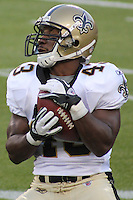 GREEN BAY - SEPTEMBER 2011: Darren Sproles (43) of the New Orleans Saints during a game on September 8, 2011 at Lambeau Field in Green Bay, Wisconsin. (Photo by Brad Krause) ...