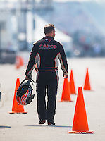 Sep 25, 2016; Madison, IL, USA; NHRA top fuel driver Steve Torrence during the Midwest Nationals at Gateway Motorsports Park. Mandatory Credit: Mark J. Rebilas-USA TODAY Sports