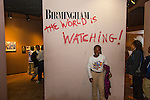 The Civil Rights Institute in Birmingham, <br /> Alabama depicts the struggles of the American Civil Rights Movement in the 1950s and 1960s. A group of schoolchildren touring the museum