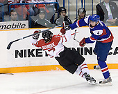 Gabriel Bourque (Canada - 7), Henrich Jabornik (Slovakia - 4) - Team Canada defeated Team Slovakia 8-2 on Tuesday, December 29, 2009, at the Credit Union Centre in Saskatoon, Saskatchewan, during the 2010 World Juniors tournament.