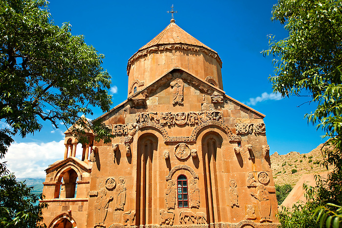 10th century Armenian Orthodox Cathedral of the Holy Cross on Akdamar Island, Lake Van Turkey 58