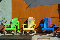Adirondack Chairs, Muskoka chair  Colorful, Green, Yellow, Blue