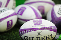 A general view of European Rugby Challenge Cup balls. European Rugby Challenge Cup match, between Cardiff Blues and Bath Rugby on December 10, 2016 at the Cardiff Arms Park in Cardiff, Wales. Photo by: Patrick Khachfe / Onside Images