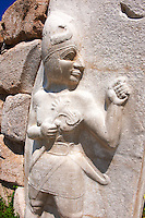 Photo of the Hittite releif sculpture on the Kings gate to the Hittite capital Hattusa 2