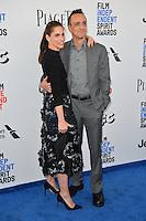 Amanda Peet &amp; Hank Azaria at the 2017 Film Independent Spirit Awards on the beach in Santa Monica, CA, USA 25 February  2017<br /> Picture: Paul Smith/Featureflash/SilverHub 0208 004 5359 sales@silverhubmedia.com