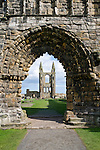 A peek through the ruins of the Cathedral of St. Andrews, Scotland