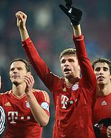 FUSSBALL  DFB-POKAL  ACHTELFINALE  SAISON 2012/2013    FC Augsburg - FC Bayern Muenchen        18.12.2012 Jubel nach dem Sieg, Thomas Mueller (FC Bayern Muenchen)