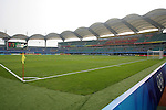 06 August 2008: The Qinhuangdao Olympic Center Stadium.  The women's Olympic team of New Zealand tied the women's Olympic soccer team of Japan 2-2 at Qinhuangdao Olympic Center Stadium in Qinhuangdao, China in a Group G round-robin match in the Women's Olympic Football competition.