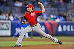 5 March 2012: Washington Nationals pitcher John Lannan on the mound during a Spring Training game against the New York Mets at Digital Domain Park in Port St. Lucie, Florida. The Nationals defeated the Mets 3-1 in Grapefruit League play. Mandatory Credit: Ed Wolfstein Photo