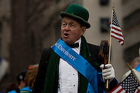 A man takes part in a march on Fifth Avenue during the 252nd annual St. Patrick's Day Parade in New York City. Photo by Eduardo Munoz Alvarez / VIEWpress.