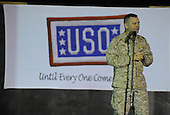 Vice Chairman of the Joint Chiefs of Staff United States Marine General James E. Cartwright addresses the crowd during a USO show at Camp Liberty, Iraq, November 14, 2008. Cartwright was on the fifth leg of a trip, which had included Greenland, Alaska, Korea and Afghanistan. Cartwright is a target of a Justice Department investigation into a leak of information about a covert U.S.-Israeli cyberattack on Iran&rsquo;s nuclear program.  <br /> Mandatory Credit: Adam M. Stump / DoD via CNP