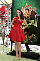 "LOS ANGELES - AUG 5:  Jodelle Ferland arrives at the ""ParaNorman"" Premiere at Universal CityWalk on August 5, 2012 in Universal City, CA"