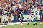 Buffalo Bills wide receiver Eric Moulds finds some running room after receiving a pass in play against the Carolina Panthers on November 27, 2005 at Ralph Wilson Stadium in Orchard Park, NY. The Panthers defeated the Bills 13-9. Mandatory Photo Credit: Ed Wolfstein