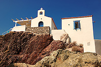Greek Orthodox chapel at Vlychos, Hydra,  Greek Saronic Islands.
