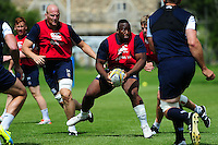 Beno Obano of Bath Rugby in possession. Bath Rugby pre-season training session on August 9, 2016 at Farleigh House in Bath, England. Photo by: Patrick Khachfe / Onside Images