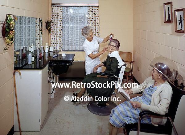 Senior women at beauty salon