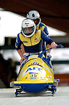 19 November 2005: Milos Vesely pilots the Czech Republic 2 sled to a 26th place tie finish at the 2005 FIBT AIT World Cup Men's 2-Man Bobsleigh Tour at the Verizon Sports Complex, in Lake Placid, NY. Mandatory Photo Credit: Ed Wolfstein.