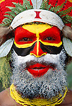 Portrait of Mendi man, Papua New Guinea