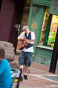 Burlington, Vermont Church Street. Burlington, Vermont and Lake Champlain
