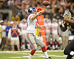New York Giants quarterback Eli Manning (10) vs. the New Orleans Saints at the Superdome in New Orleans, La. on Monday, November 28, 2011. New Orleans won 49-24.