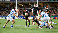 Rugby World Cup Auckland  New Zealand v Argentina Quarter Final 4 - 09/10/2011.Jerome Kaino  (New Zealand)   .Photo Frey Fotosports International/AMN Images