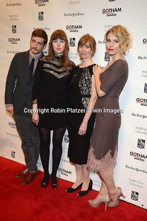 Ken Tucker Audley, Kim Sherman, Kate Lynn Sher and Amy Seimetz attends the 23rd Annual Gotham Independent Film Awards on December 2, 2013 at Cipriani Wall Street in New York City.