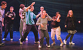 """""""On Fire"""" street dance group rehearsing.  Special Olympics Surrey put on a show,   """"Beyond the Stars"""", at the Rose Theatre, Kingston upon Thames to raise money for the  SOGB team.  The Special Olympics are for athletes with learning disabilities."""
