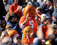 Oct 30, 2010; Charlottesville, VA, USA;   Virginia Cavalier fans dress for Halloween during the the 1st half of the game against the Miami Hurricanes at Scott Stadium.  Mandatory Credit: Andrew Shurtleff