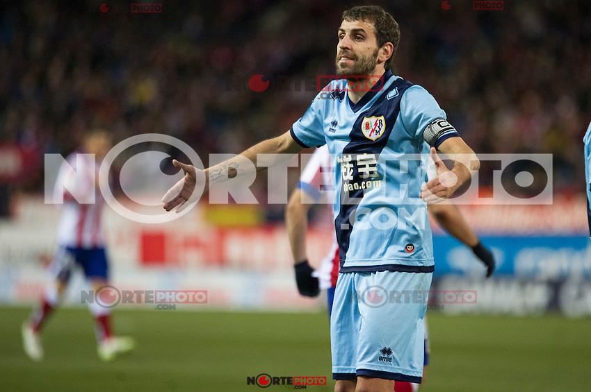 Rayo Vallecano&acute;s Roberto Trashorras during 2014-15 La Liga match between Atletico de Madrid and Rayo Vallecano at Vicente Calderon stadium in Madrid, Spain. January 24, 2015. (ALTERPHOTOS/Luis Fernandez) /NortePhoto<br />