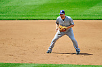28 May 2011: San Diego Padres infielder Chase Headley in action against the Washington Nationals at Nationals Park in Washington, District of Columbia. The Padres defeated the Nationals 2-1 to even up their 3-game series. Mandatory Credit: Ed Wolfstein Photo